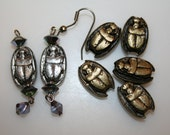 Vintage 8 pc Scarab charms