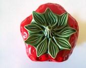 Strawberry Cookie Jar- Vintage McCoy Ceramic