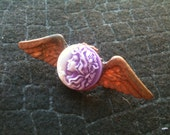 Steampunk Ghost Lady Wing Brooch / Pin