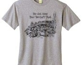 3XL Gray Morel Mushrooms T Shirt - Recycled Cotton - Only 1 Left - Free Shipping
