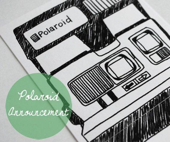 Polaroid Illustration Digital Download for A2 Card