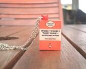 Wibbly-wobbly Timey-Wimey (Mini journal) Doctor Who Necklace