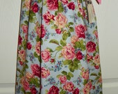 French Country Cottage Roses Traditional Pillowcase Jumper Dress SZ 6