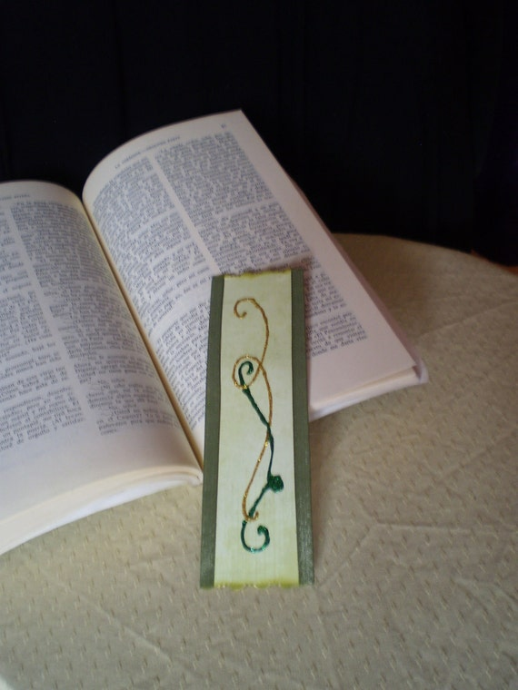 Custom green bookmark