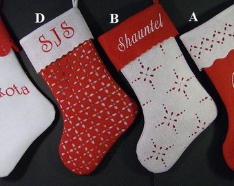 THREE Personalized Christmas Stockings