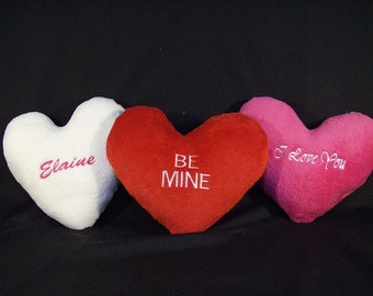 """Personalized 16"""" Heart Shaped Valentines Pillow"""