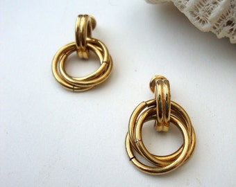 Vintage Knot Earrings : Held Together Knots vintage gold tone dangle knot earrings