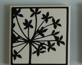 Ceramic tile magnet with vinyl decal