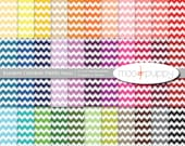 Chevron Digital Scrapbook Paper Pack  --  Rainbow Chevron Stripes Small -- INSTANT DOWNLOAD