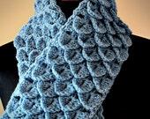 Crochet Pattern - Crochet Crocodile Stitch Scarf (Pattern No. 031) - INSTANT DIGITAL DOWNLOAD