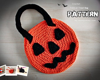 Crochet Pattern - Crochet Halloween Trick-or-Treat Bag (Pattern No. 049) - INSTANT DIGITAL DOWNLOAD