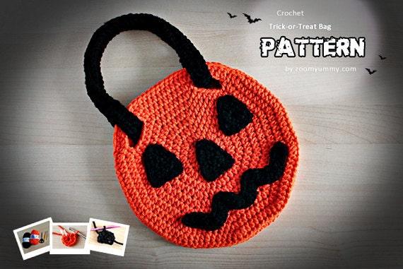 Crochet Pattern - Crochet Halloween Trick-or-Treat Bag (Pattern No. 049) - INSTANT DIGITAL DOWNLOAD
