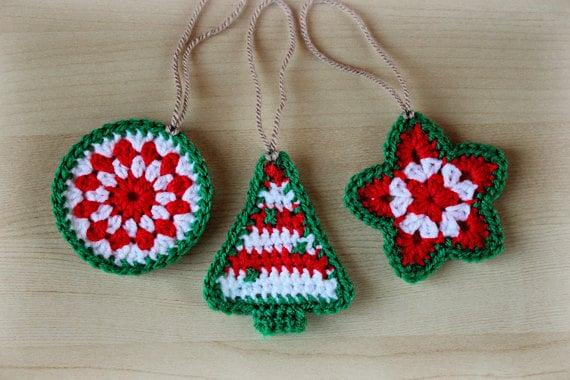 Crochet Pattern Crochet Christmas Ornaments Pattern No - Crochet christmas ornaments