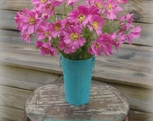 WEDDING TABLE CENTERPIECE 2 French Tall Galvanized Vases Pails Bucket (your color choice)