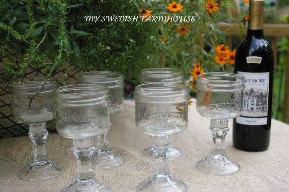 Custom Listing for Makalya  Set of 9 Mason Jar Glasses