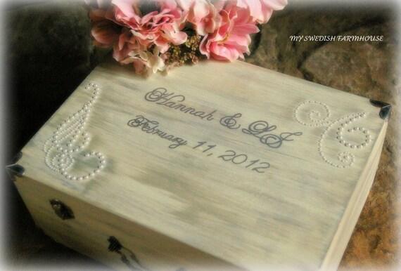 Wedding Card Box SHABBY CHIC RUSTIC Love Letter Wine Ceremony Box Keepsake