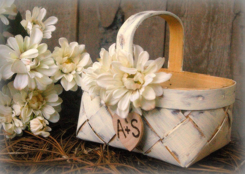 Flower Baskets Decoration : Flower girl basket rustic wedding decor by minsvenskalandgard