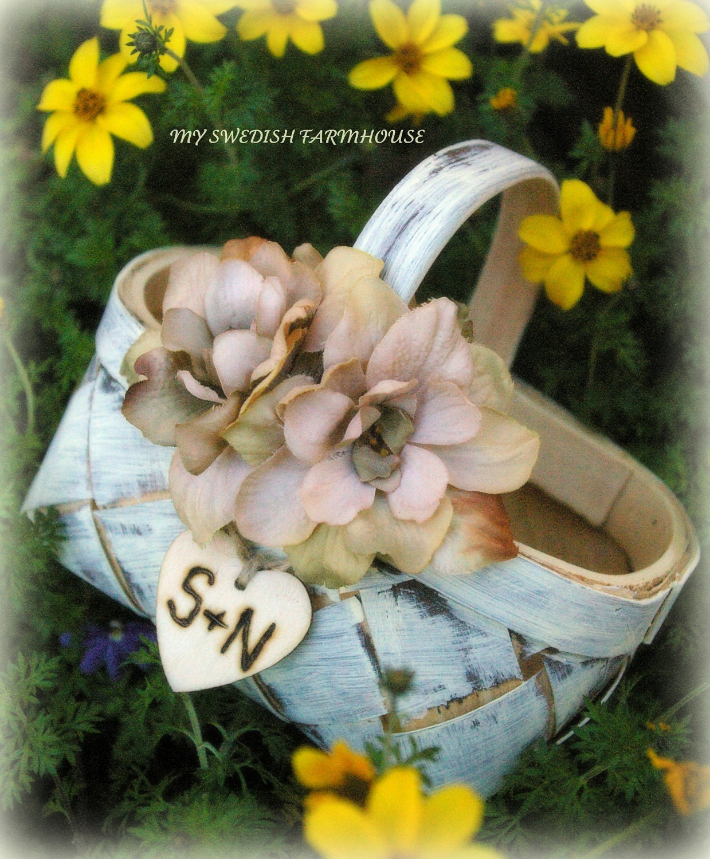 Lillian Rose Rustic Outdoor Wedding Birch Flower Basket ...
