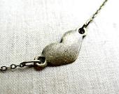 My Little Heart Antique Brass Necklace