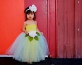 reserved for Sandra: Tinkerbell Inspired TuTu Dress in size 2t