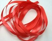 """10 yds 1/4"""" Satin Ribbon - Coral"""