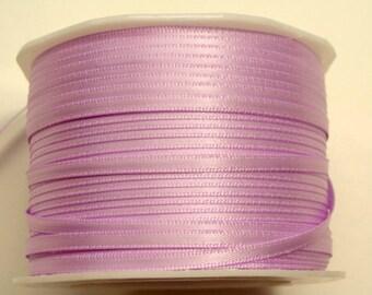 """1/8"""" Satin Ribbon in Lavender - 10 Yards"""