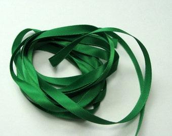 """1/4"""" Satin Ribbon - Emerald Green - 10 yards"""