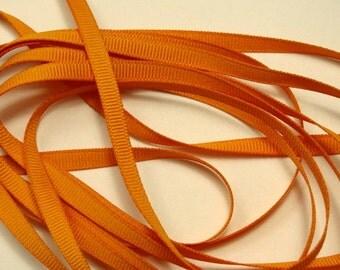 "1/4"" Grosgrain Ribbon - Antique Gold - 10 yards"