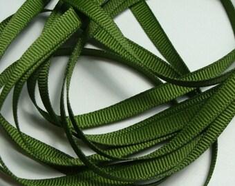 "1/4"" Grosgrain Ribbon - Old Willow - 10 yards"
