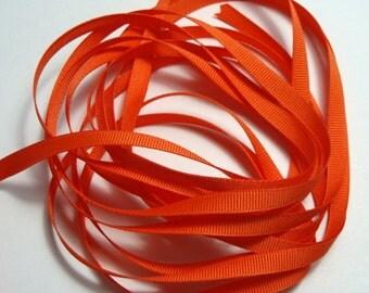 "1/4"" Grosgrain Ribbon -  Orange - 10 yards"