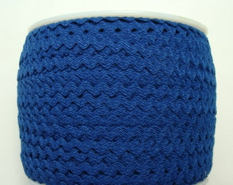 "7/32"" Polyester Rick Rack - Royal Blue"