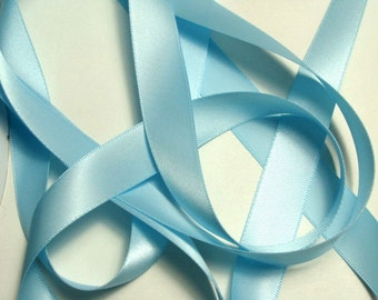 "5/8"" Double-Faced Satin Ribbon - Light Blue"
