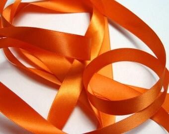 "5/8"" Double-Faced Satin Ribbon - Orange"