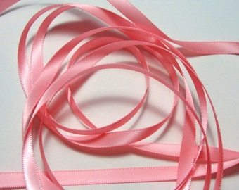 """1/4"""" Satin Ribbon - Pink - Double-faced - 10 Yards"""