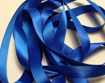 "5/8"" Double-Faced Satin Ribbon - Royal Blue"