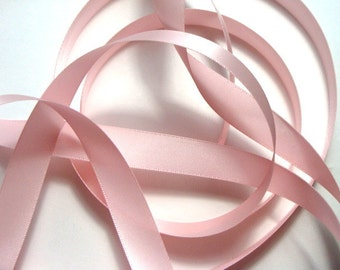 """5/8"""" Double-Faced Satin Ribbon - Light Pink"""