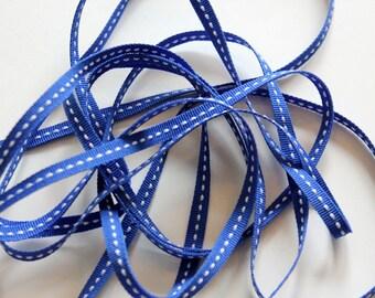 "1/4"" Side-Stitched Grosgrain Ribbon - Royal Blue - 4 yards"