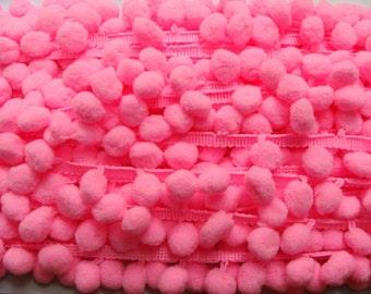 Pom Pom Fringe - Hot Pink - 3 yards