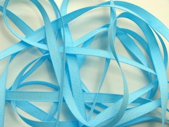 """1/4"""" Grosgrain Ribbon - Light Blue - 10 yards"""