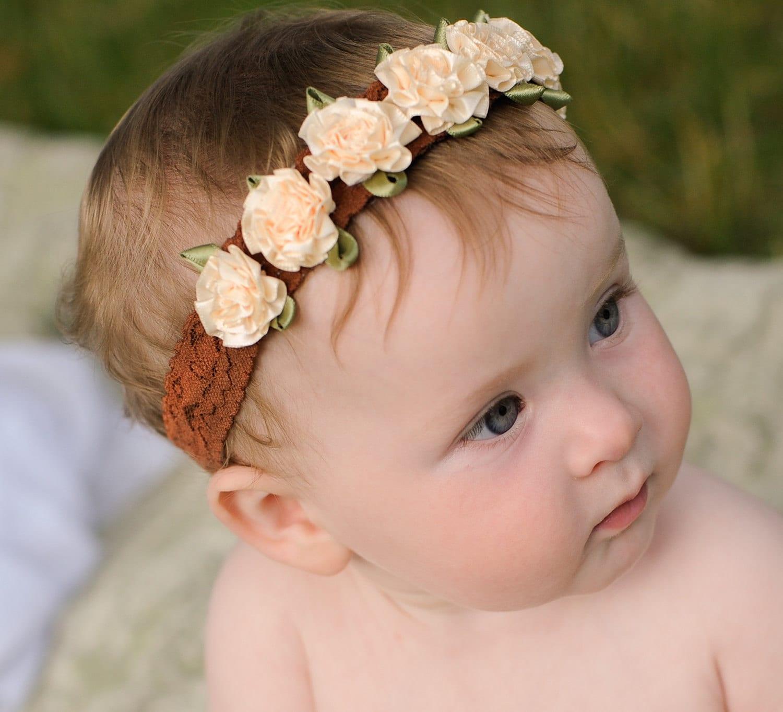 baby flower headband satin crown infant headband baby flower headband satin crown infant headband