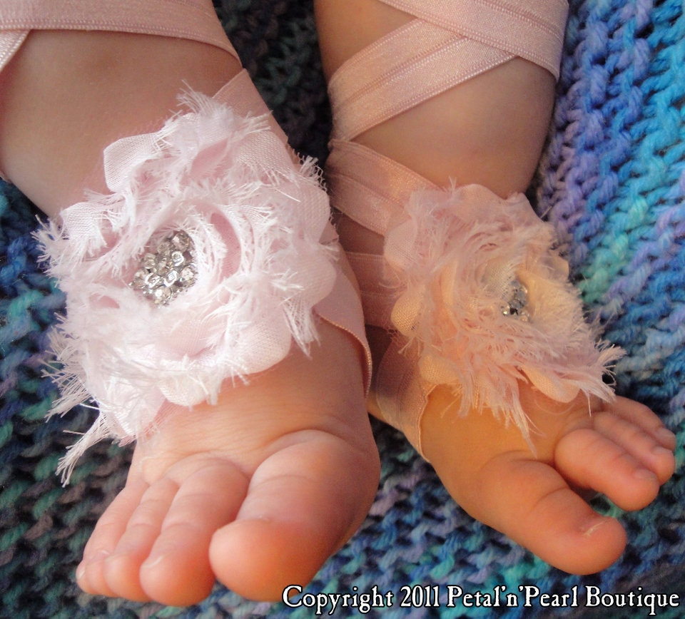 Items similar to Baby Shoes, Baby Barefoot Sandals, Baby ...