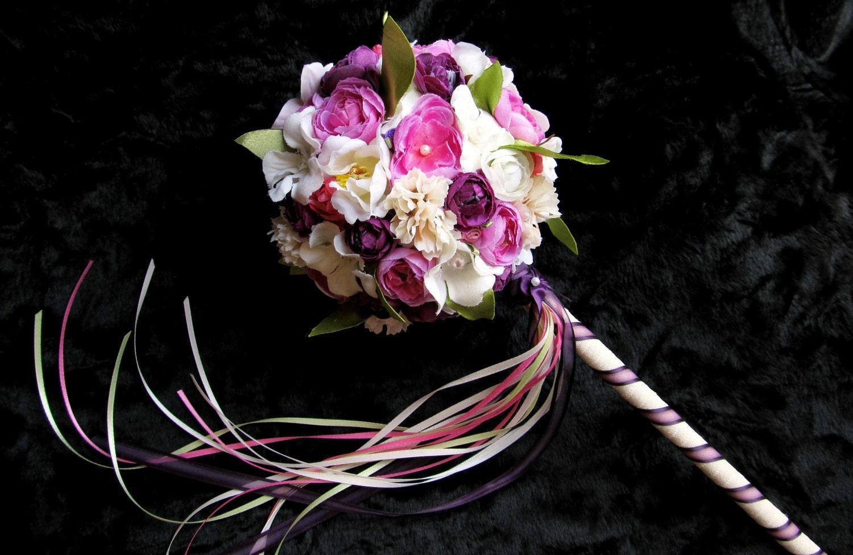 flower girl bouquet flower girl wand by petalnpearlboutique