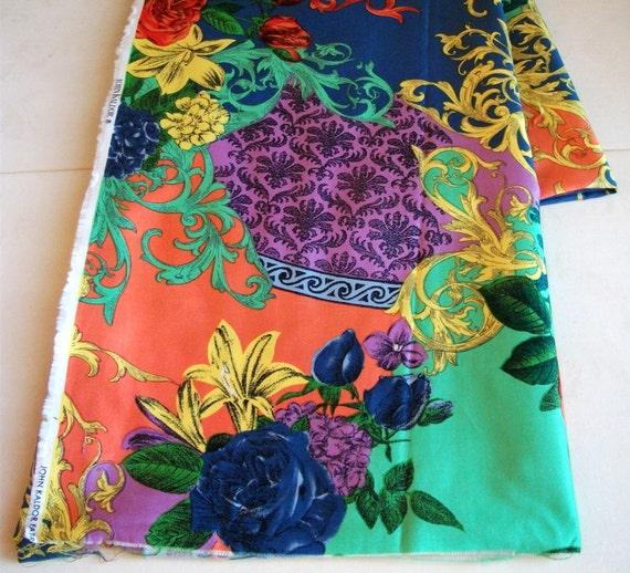 Vintage John Kaldor Floral Fabric - Half Yard - Vivid Imagination
