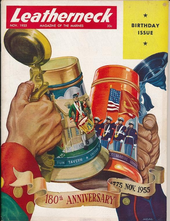 Leatherneck Marine Magazine November 1955 Post Eighth and Eye Home of Commandants Glory of the River Kangwha Korea Navy Chaplains Fire Op