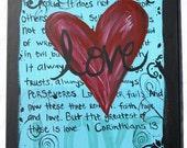 1 Corinthians 13 Custom Canvas 16X24
