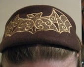 Brown and Golden Tan Batty Headband