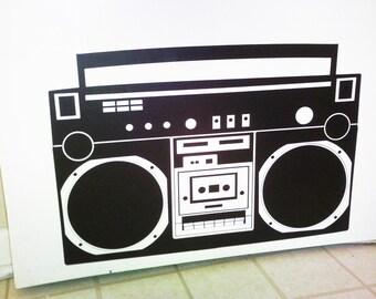 Boombox Radio wall decal