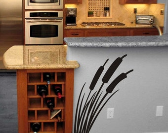 Cattails wall decal