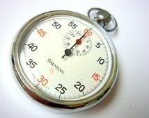 WAKMANN Stop Watch by Breitling Wakmann Company Vintage 1960's Beautiful Swiss Made Stop Watch Sports