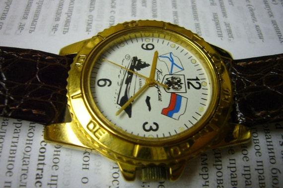 Wrist Watch Wristwatch Russian Commanders Marine Navy Military Wrist Watch Rare